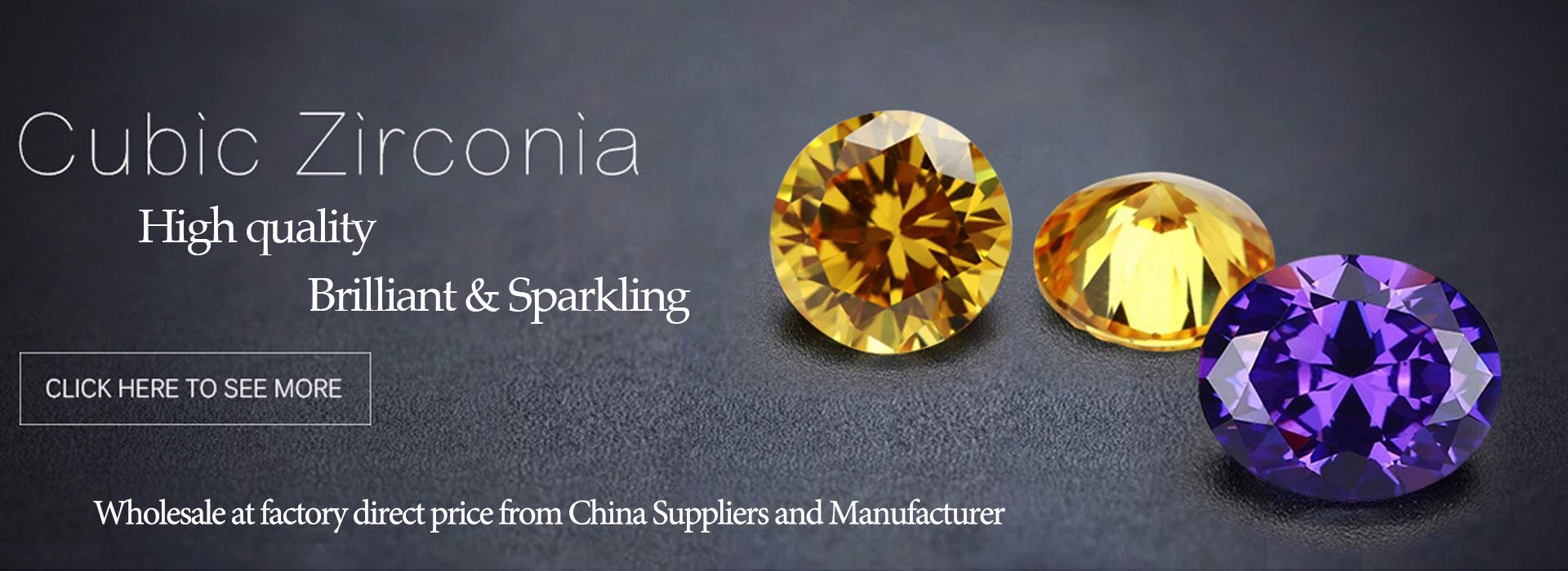 Loose cubic zirconia China manufacturer