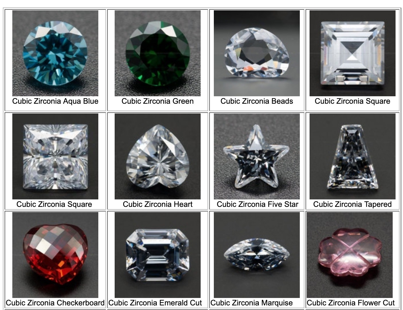 Cubic-Zirconia-popular-shapes-and-Colors