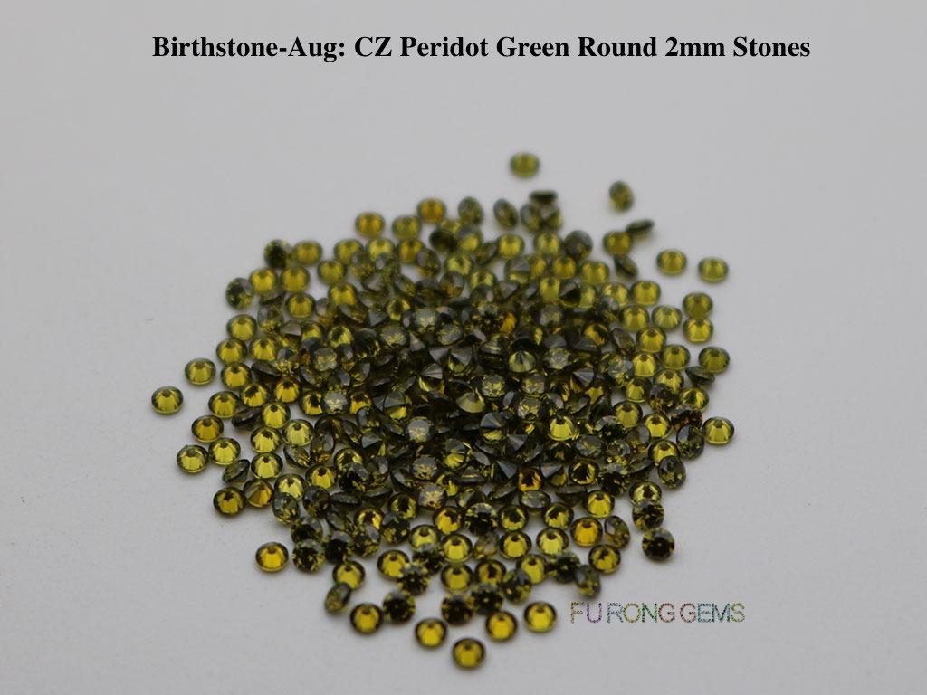 Aug-CZ-Peridot-Birthstone-2mm-Round-Stones