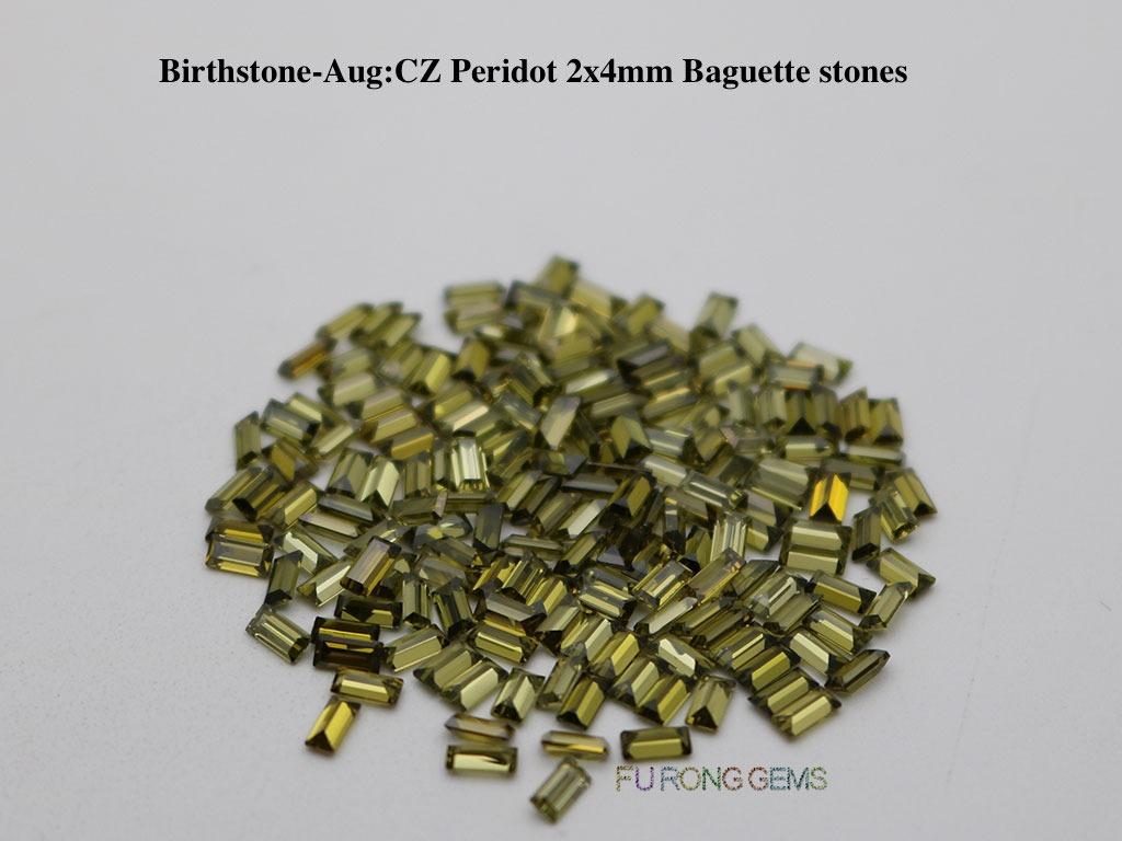 Aug-CZ-Peridot-Birthstone-2x4mm-baguette-Stones