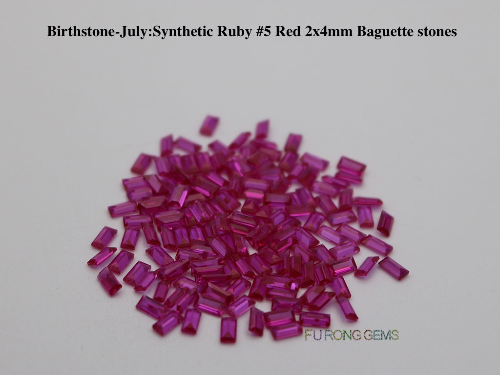 July-Synthetic-Ruby-Red-Birthstone-2x4mm-baguette-Stones