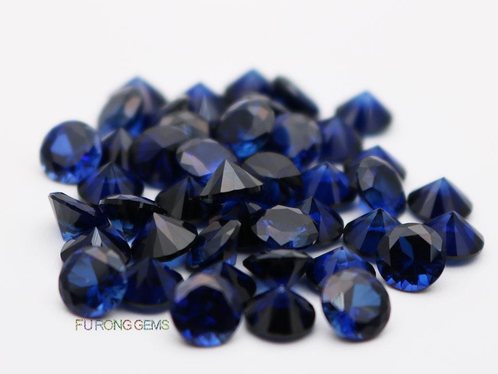 Lab-created-Blue-Sapphire-34-Round-Diamond-cut-6.5mm-Gemstones-for-sale