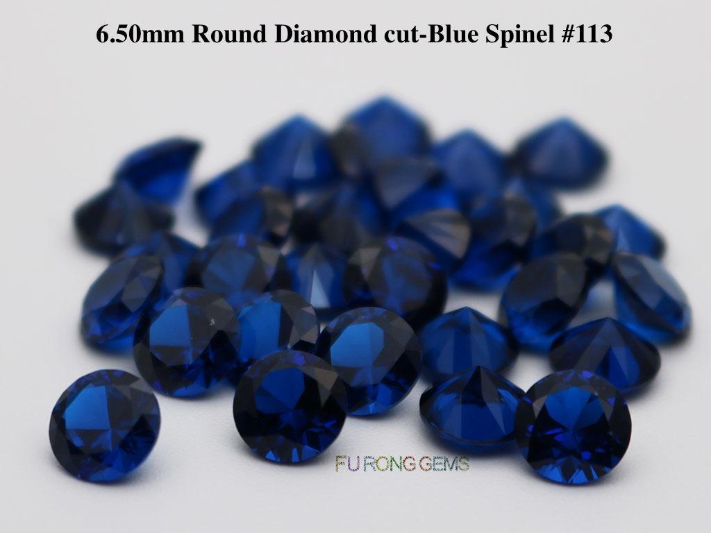 Lab-created-Blue-spinel-113-Round-6.5mm-Gemstones-wholesale