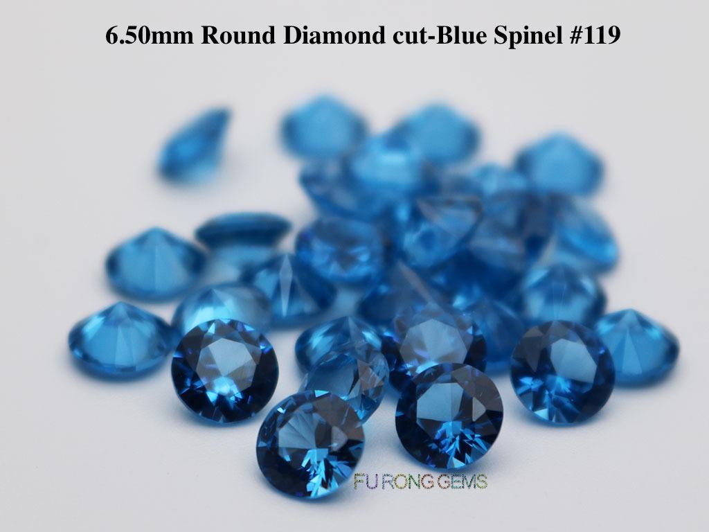 Lab-created-Blue-spinel-119-Round-6.5mm-Gemstones-for-sale