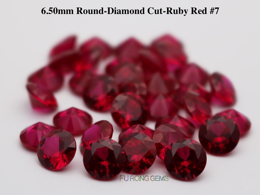 Lab-created-Ruby-Red-7-Round-6.5mm-Gemstones-wholesale