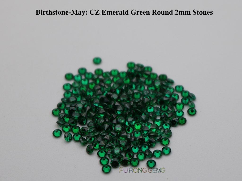 May-CZ-Emerald-Green-Birthstone-2mm-Round-Stones