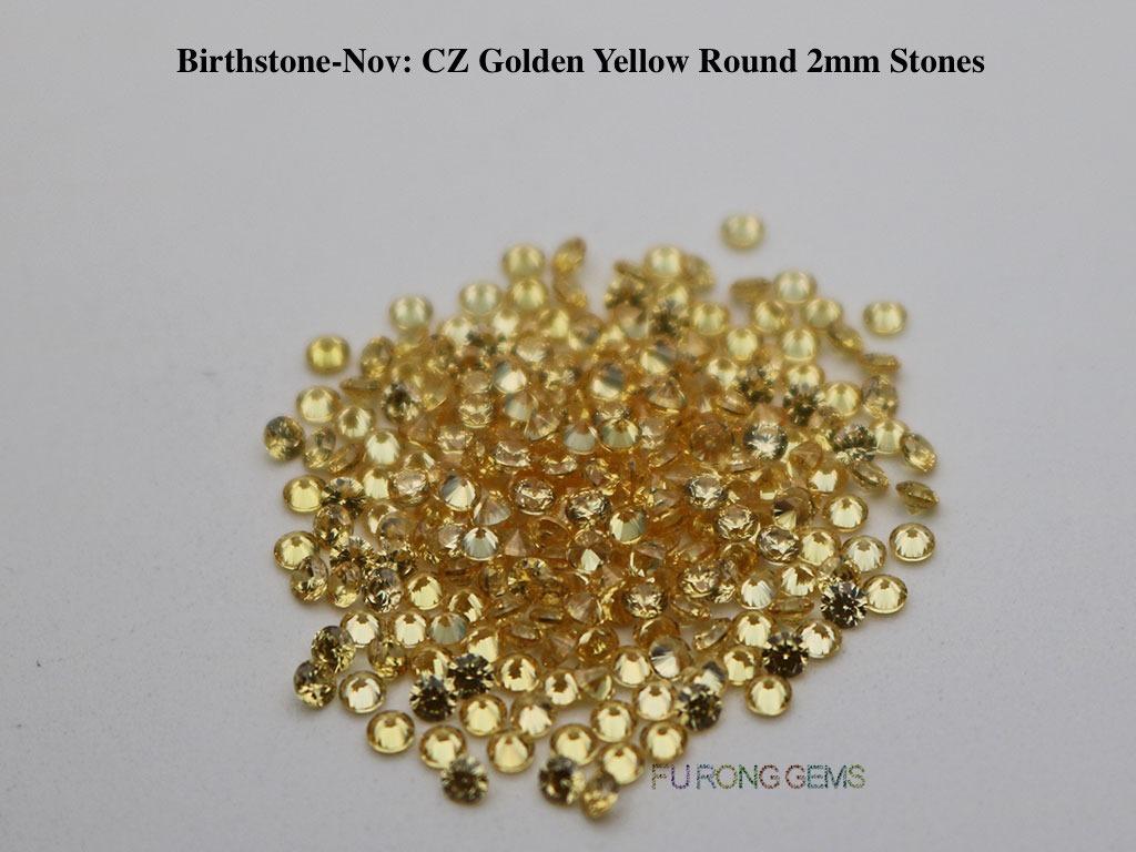 Nov-CZ-Golden-Yellow-Birthstone-2mm-Round-Stones