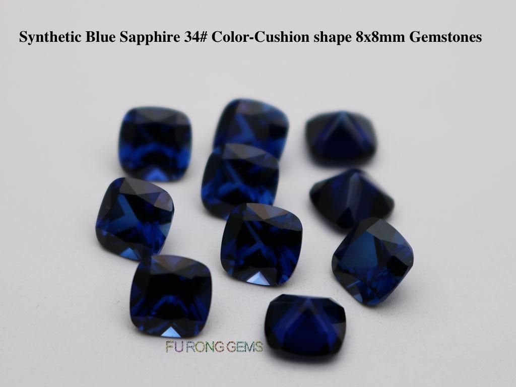 Synthetic-Sapphire-Blue-Corundum-34-Cushion-shape-8x8mm-Gemstones-Suppliers