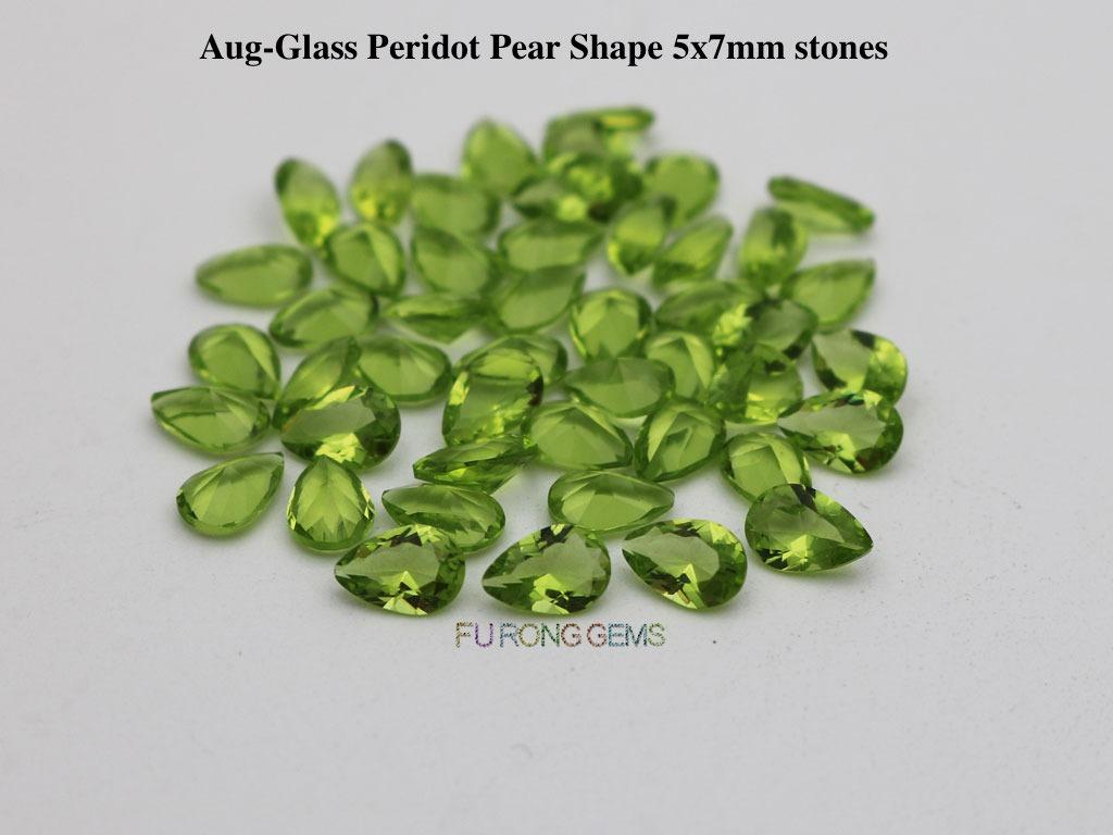 Glass-Peridot-pear-7x5mm-stones