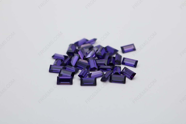 Cubic Zirconia Violet Baguette Step Cut 4x2mm stones CZ19 IMG_0630