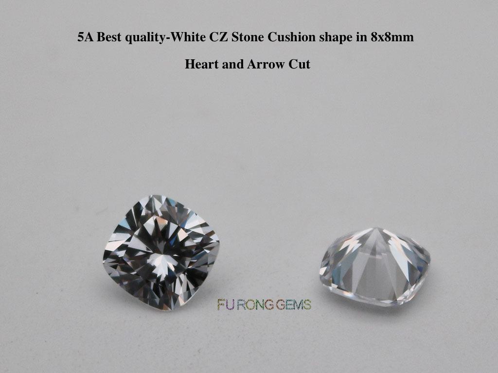 Cushion-Shape-Heart-Arrow-Cut-White-Cubic-Zirconia-8x8mm-Stones-China-Suppliers