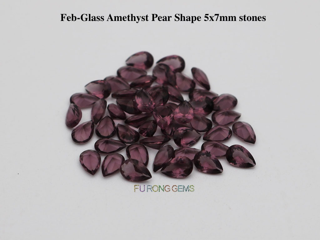 Glass-amethyst-Pear-5x7mm-stones