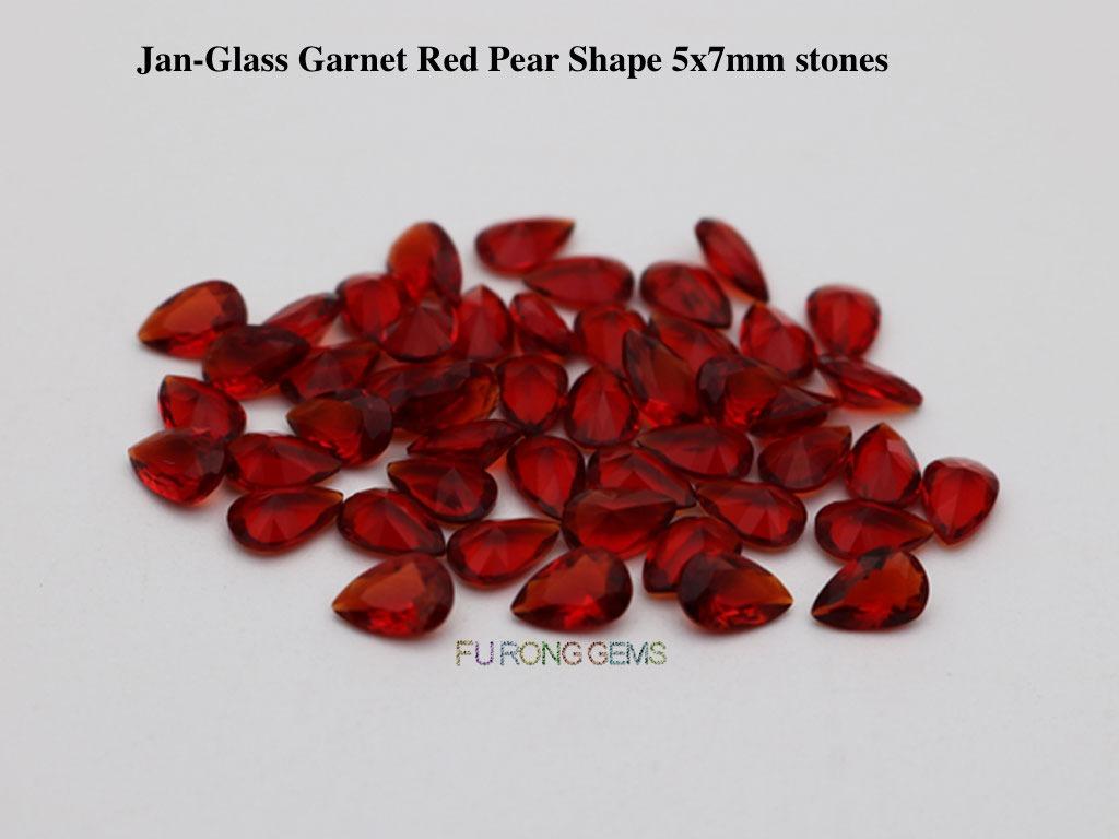 Glass-Garnet-Red-pear-5x7mm-stones