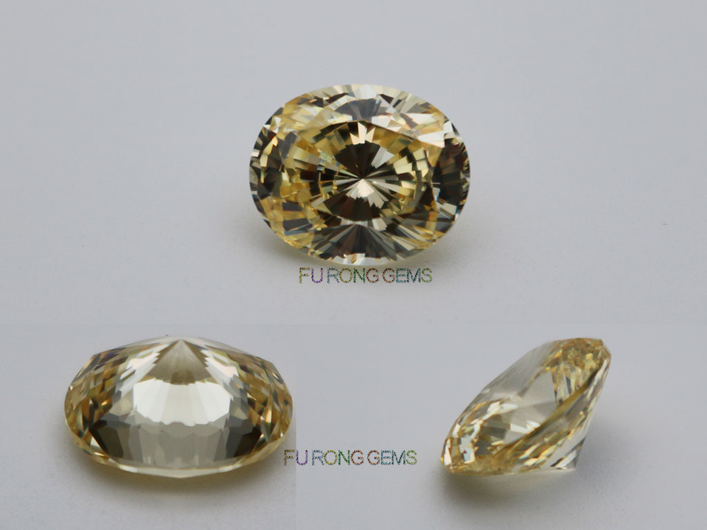 Loose-Cubic-Zirconia-Canary-Yellow-Oval-Shape-Quadrillion-cut-stones