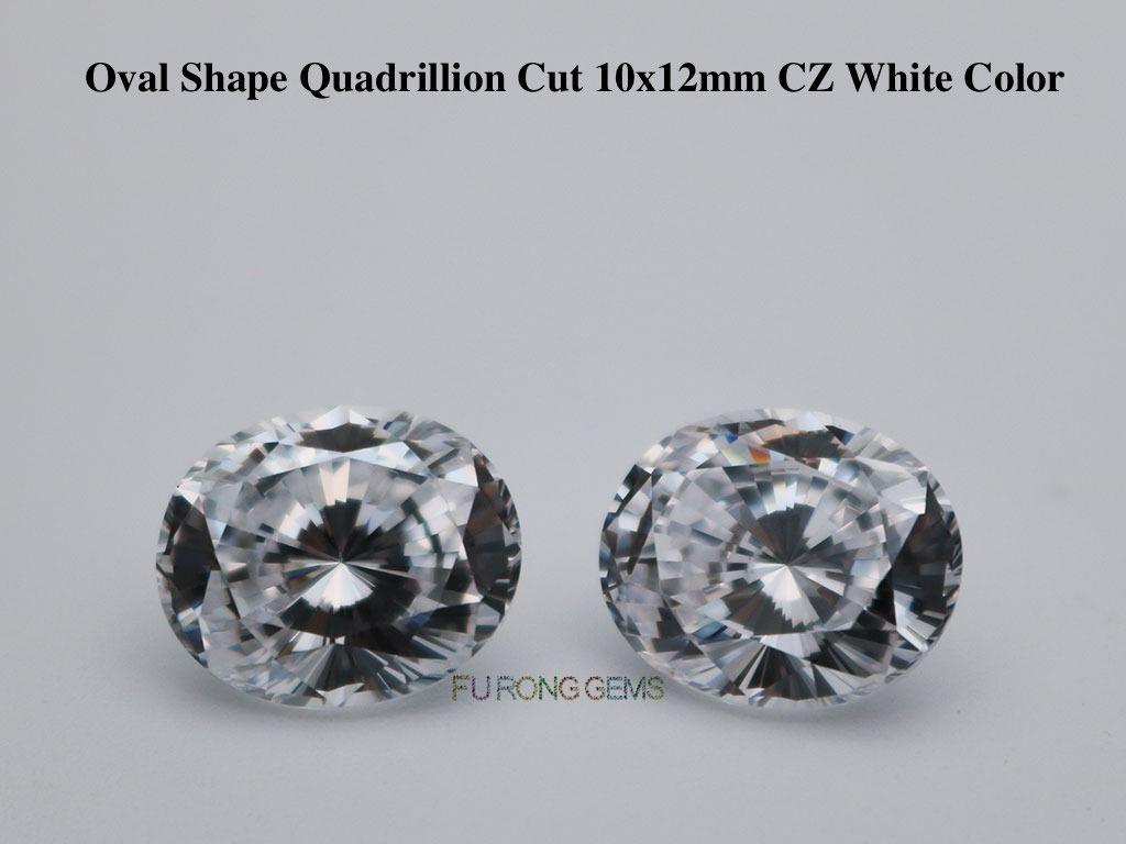 Loose-Cubic-Zirconia-Whie-Color-Oval-Shape-Quadrillion-cut-stones