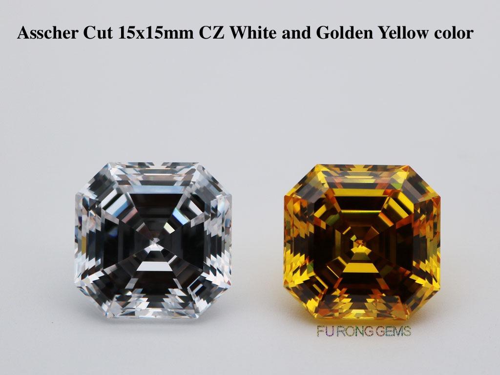 Loose-Cubic-Zirconia-White-Clear-Color-Asscher-Cut-5A-Best-quality-Gemstones
