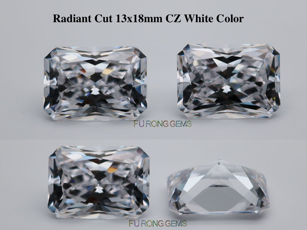 Loose-Cubic-Zirconia-White-Clear-Color-Radiant-Cut-Stones