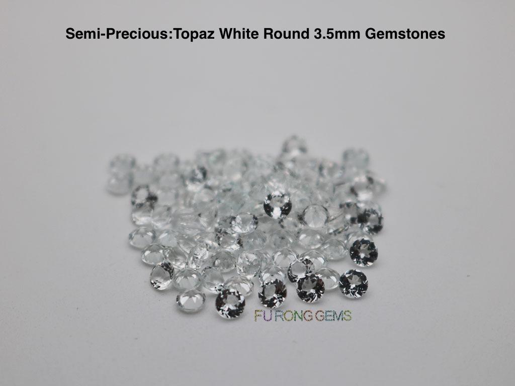 Natural-White-Topaz-Round-3.50mm-Gemstones-China-wholesale