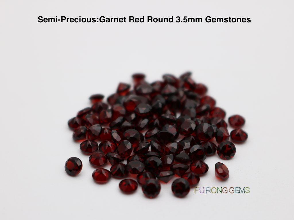 Semi-precious-Natural-Garnet-Red-Round-3.50mm-Gemstones-wholesale-China