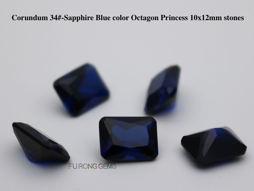 Created-Synthetic-Sapphire-Blue-Color-Octagon-12x10mm-Stones-suppliers