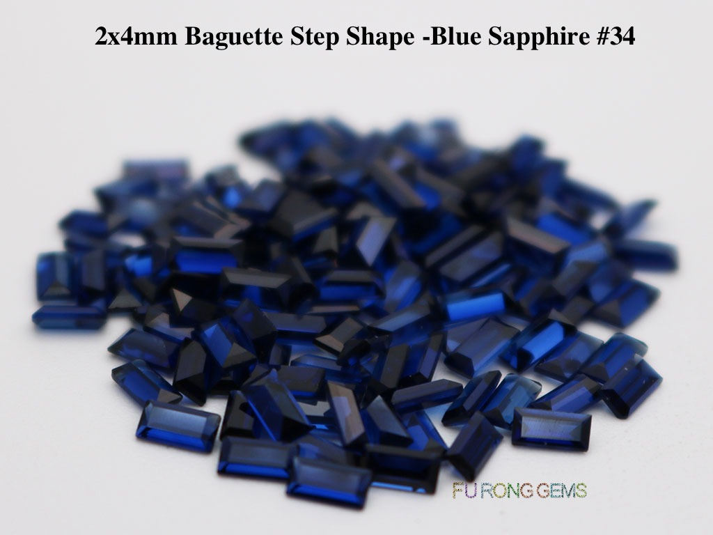 Created-synthetic-Blue-sapphire-Baguette-shape-2x4mm-gemstones-for-sale