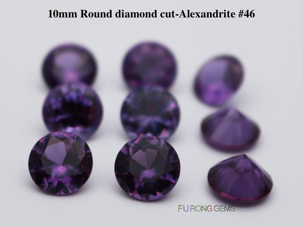 Lab-created-Alexandrite-Color-change-round-diamond-cut-10mm-gemstones-for-sale