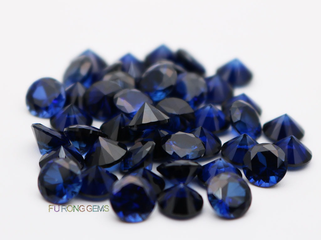 Lab-created-Blue-Sapphire-#34-Round-Diamond-cut-6.5mm-Gemstones-for-sale