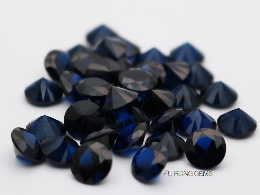Lab-created-Dark-Blue-Spinel-#114-Round-6.5mm-Gemstones-wholesale
