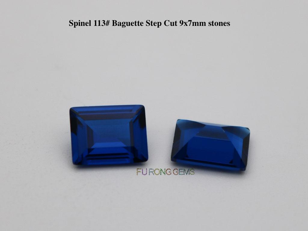 Spinel-113#-Blue-Baguette-7x9mm-Gemstones-Wholesale