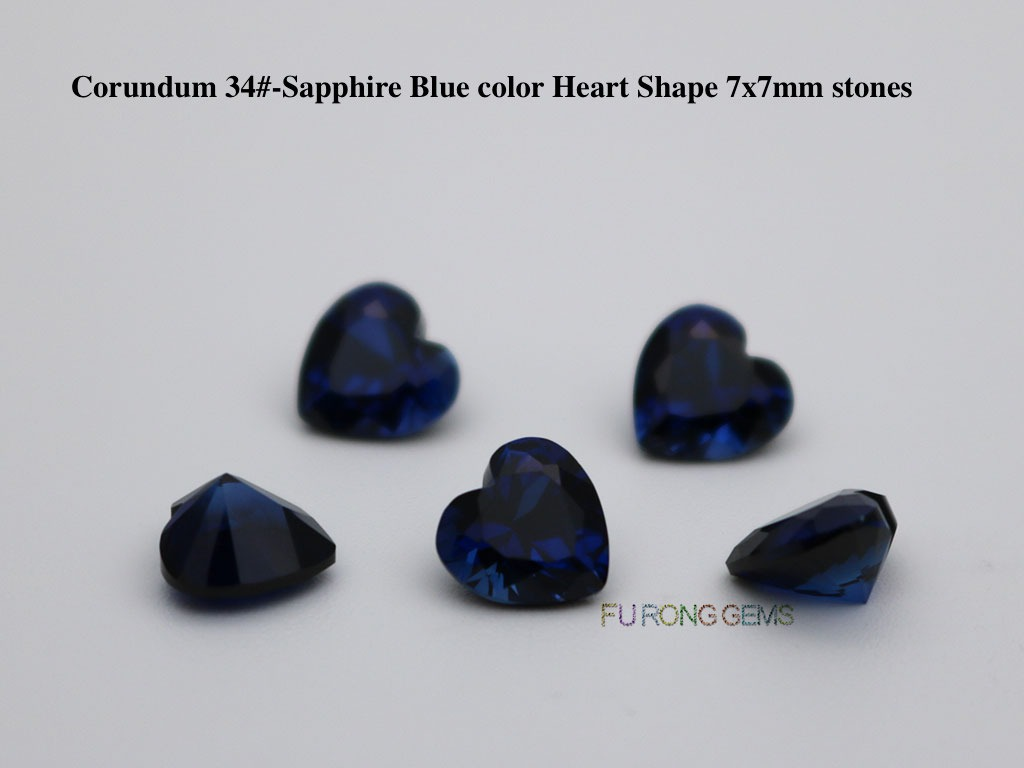 Synthetic-Blue-Sapphire-Color-Heart-Shape-7x7mm-Stones-suppliers