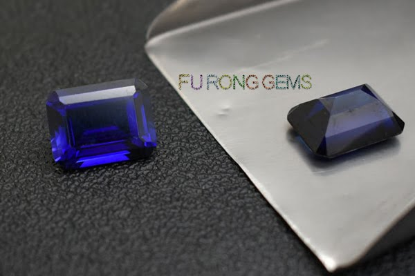Synthetic-Created-Blue-Sapphire-Emerald-Cut-Gemstones-China-Wholesale
