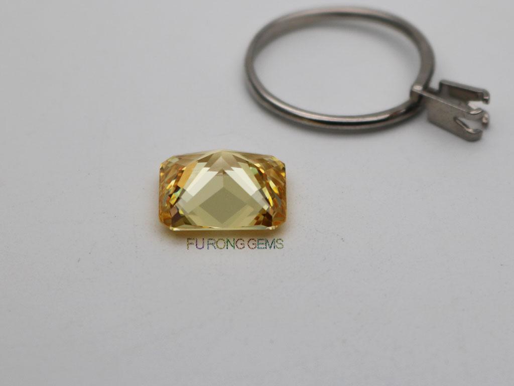AAAAA-Quality-Cubic-zirconia-Canary-Yellow-Radiant-cut-gemstone-12x14mm