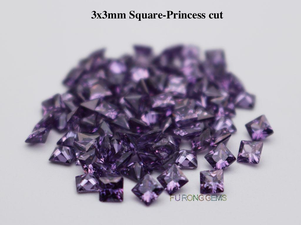 Amethyst-Cubic-Zirconia-Square-Princess-3x3mm-Gemstone-for-sale