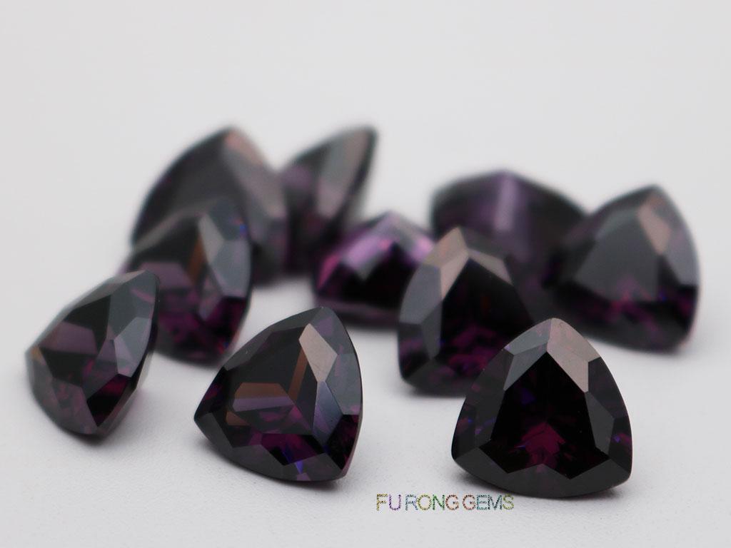 Amethyst-Loose-CZ-Trillion-Shape-10x10mm-Gemstone-for-sale
