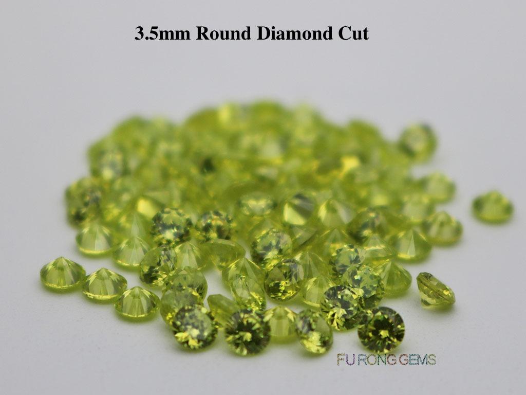 Apple-Green-Color-Loose-Cubic-Zirconia-Round-Diamond-Cut-3.5mm-Gemstone-wholesale