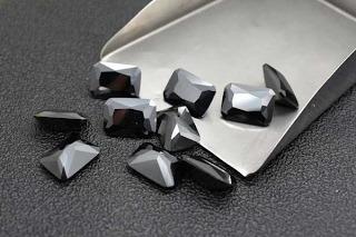 Black-Color-Cubic-Zirconia-Octagon-Shape-Gemstones