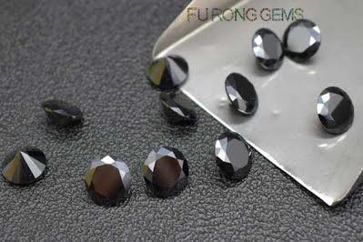 Black-Color-Cubic-Zirconia-Round-Diamond-Gemstones