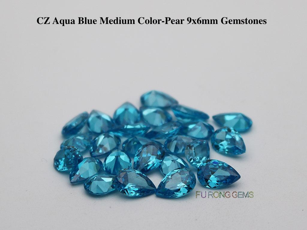 CZ-Aquamarine-Blue-Pear-Shape-9x6mm-Gemstones-Suppliers