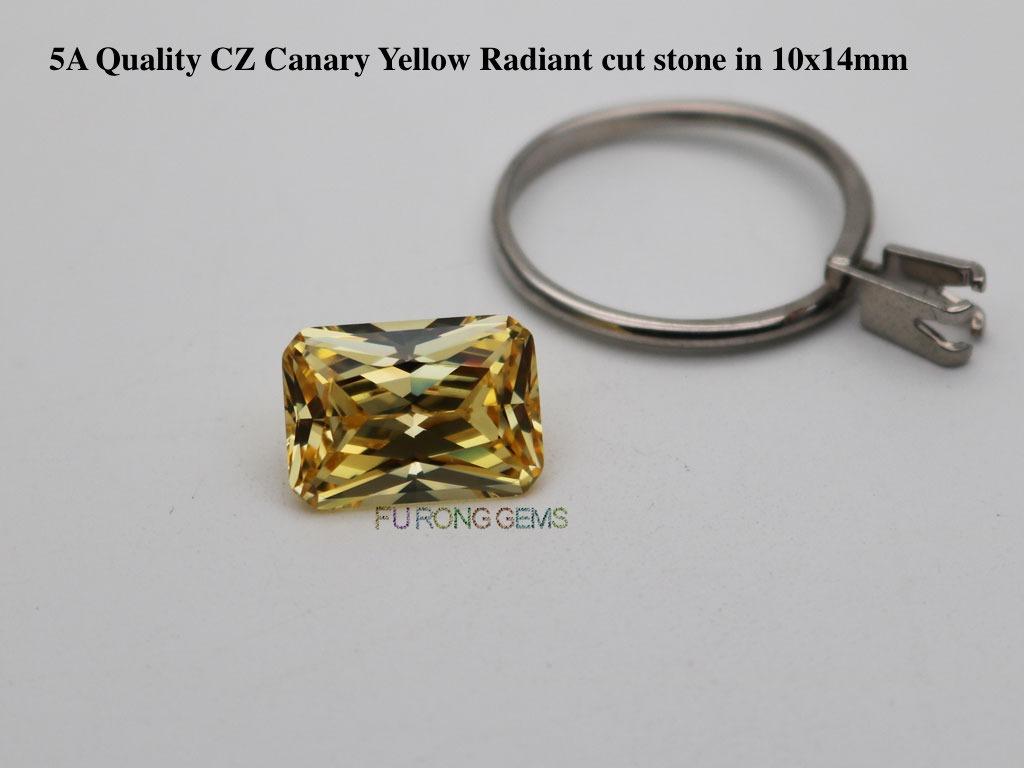 CZ-Canary-Yellow-Radiant-cut-stone-10x14mm-wholesale