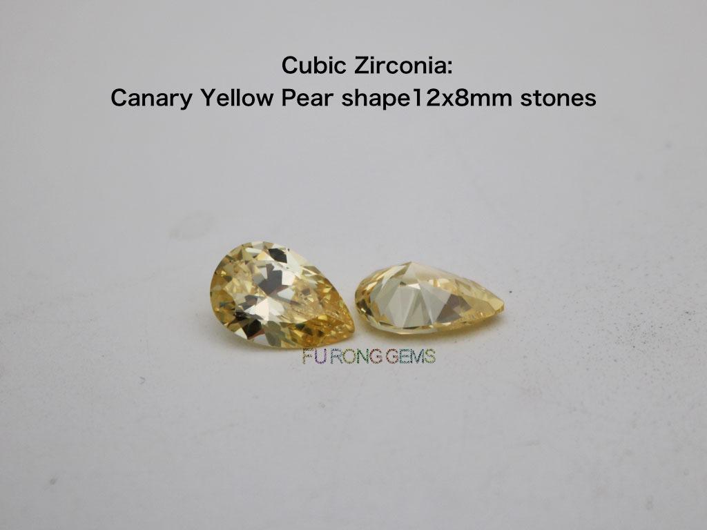 CZ-Canary-yellow-Pear-shape-12x8MM