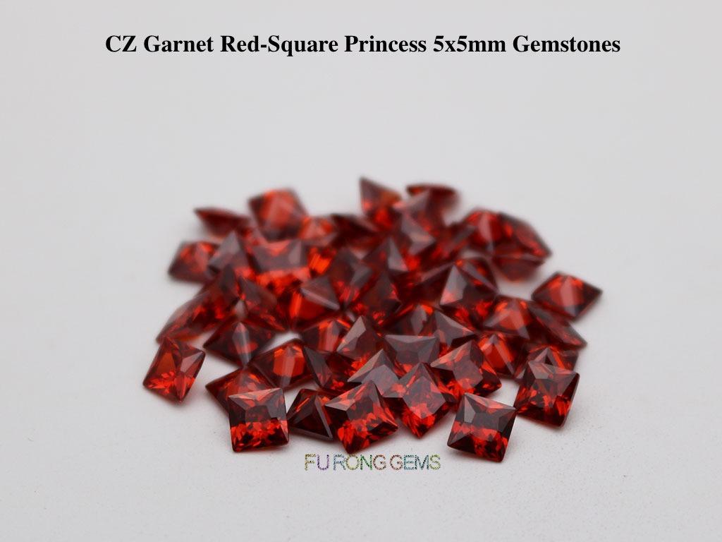 CZ-Garnet-Red-Square-Princess-5x5mm-Gemstones-wholesale