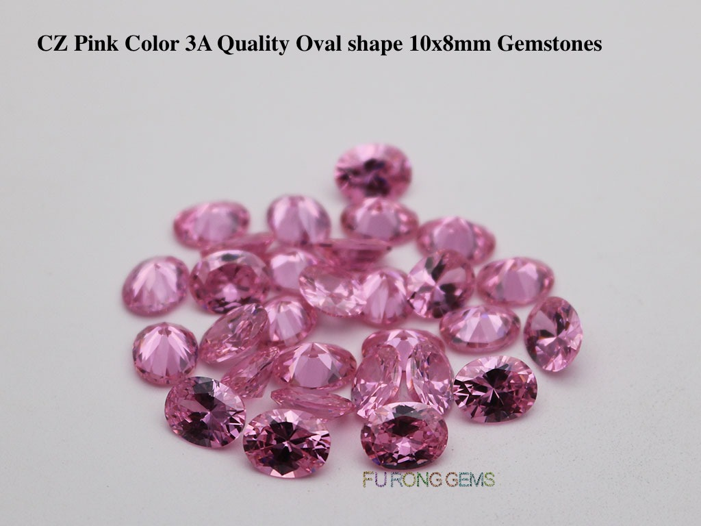 CZ-Pink-Color-3A-Quality-Oval-shape-10x8mm-Gemstones-Suppliers