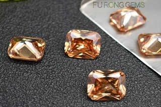 Champagne-Color-Cubic-Zirconia-Octagon-Shape-Gemstones