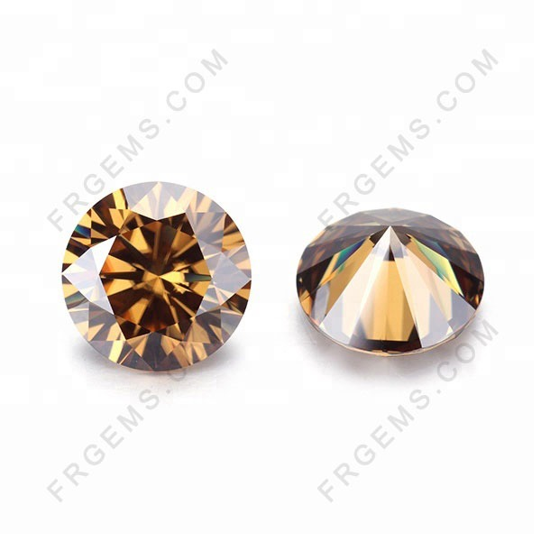 Champagne-Color-Moissanite-Gemstones-Suppliers-China