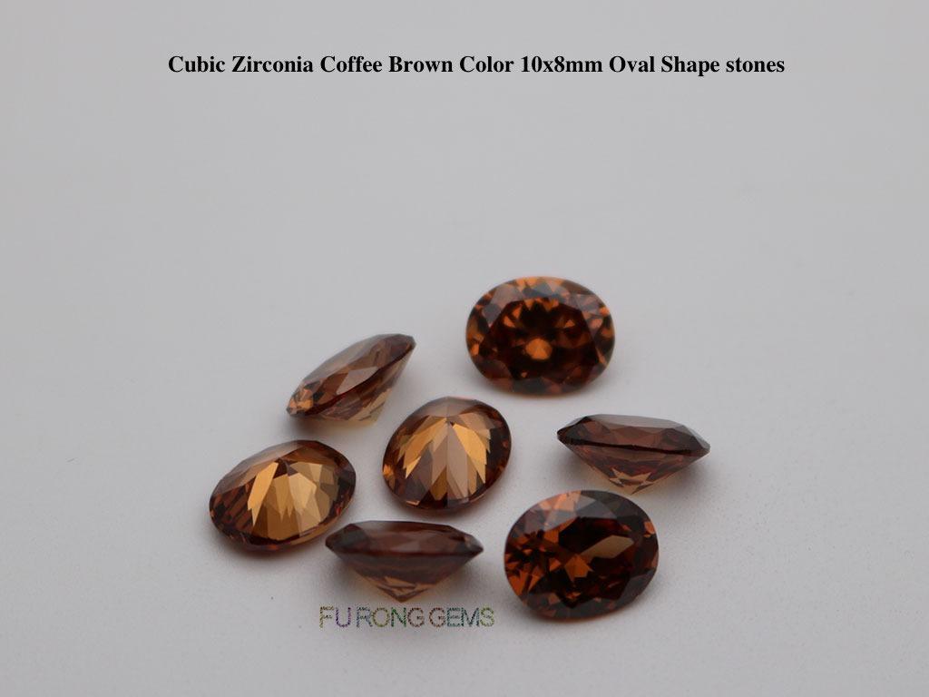Coffee-Brown-Color-Cubic-zirconia-Oval-Shape-Cut-Gemstones-Wholesale