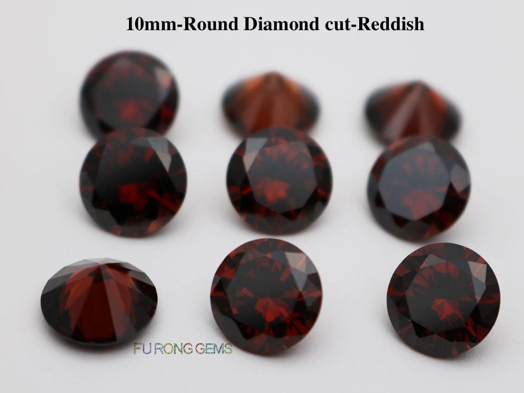 Coffee-Color-Cubic-Zirconia-Round-diamond-cut-10mm-gemstones-wholesale