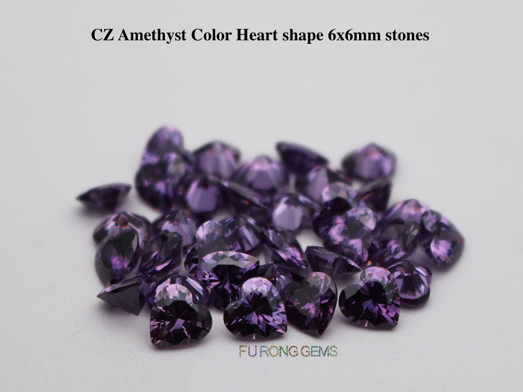 Cubic-Zirconia-Amethyst-Color-Heart-Shape-6x6mm-Stones-wholesale
