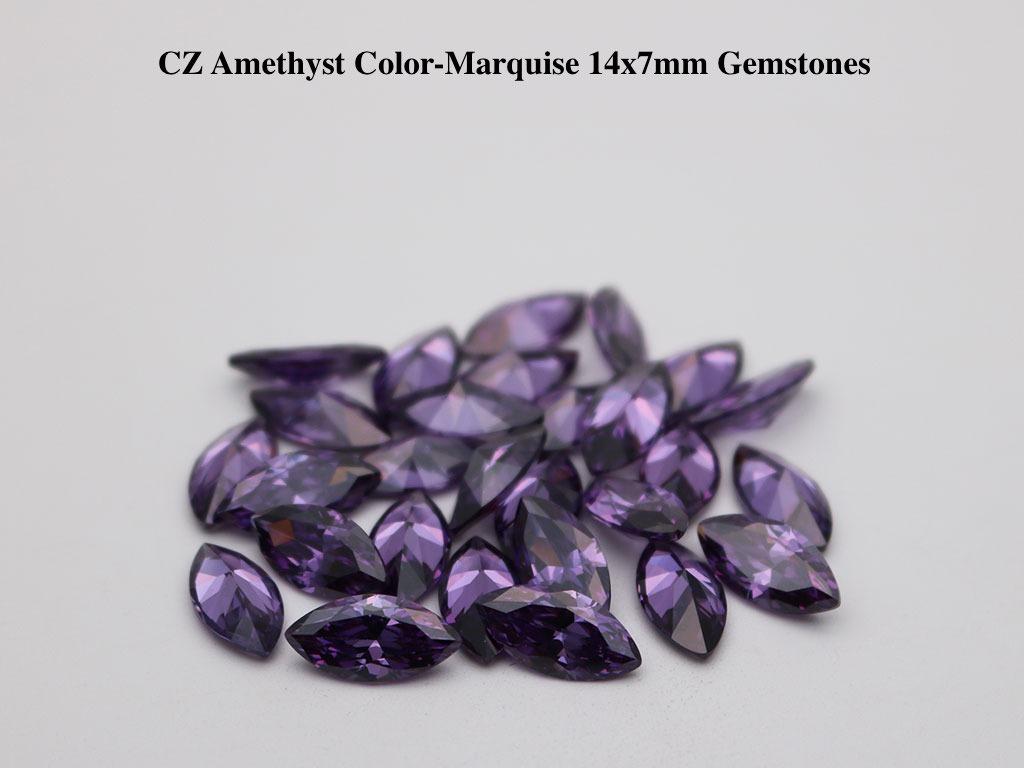 Cubic-Zirconia-Amethyst-Marquise-Shape-14x7mm-Gemstones-suppliers