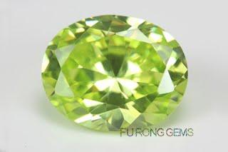Cubic-Zirconia-Apple-Green-Color-Gemstone-Oval-Wholesale