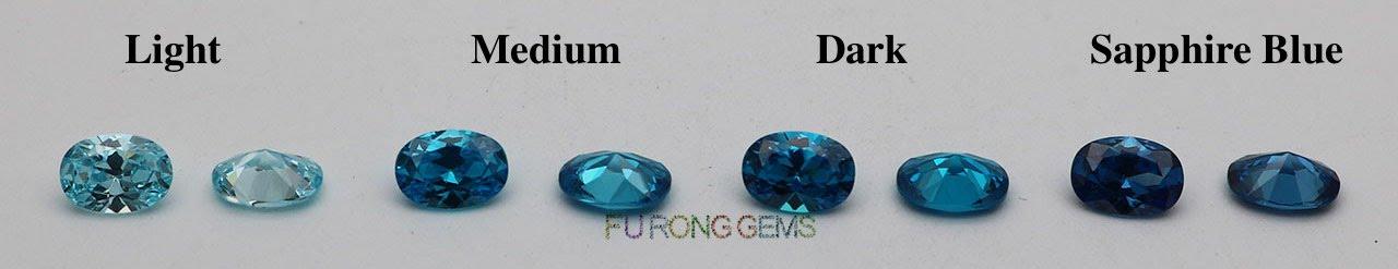 Cubic-Zirconia-Aqua-Blue-Light-Medium-Dark-VS-Sapphire-Blue-Gemstones